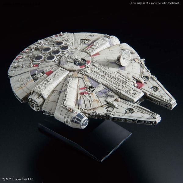 Bandai - Star Wars Bandai Vehicle Model Kit 015: MILLENNIUM FALCON