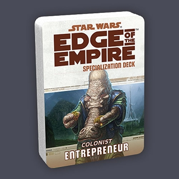 Star Wars Edge of the Empire: Specialization Deck - Colonist Entrepeneur