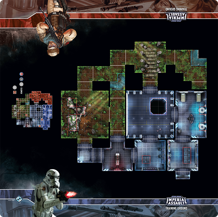 Star Wars Imperial Assault: Skirmish Map- Training Ground