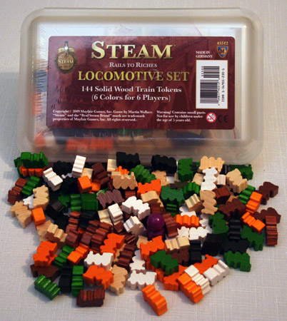 Steam - Locomotive Meeples Set [SALE]