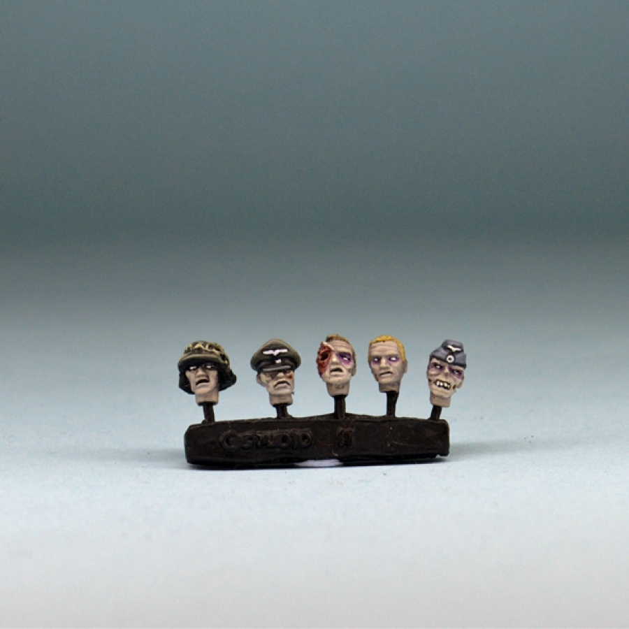 Studio Miniatures: WWII German Zombies- German Zombie Heads