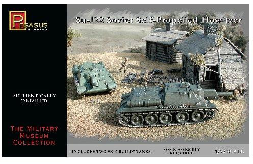Pegasus Hobbies WWII 1/72: Su-122 Soviet Self Propelled Howitzer