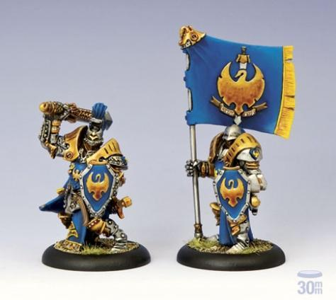 Warmachine: Cygnar (31059): Sword Knight Officer and Standard Bearer Unit Attachment