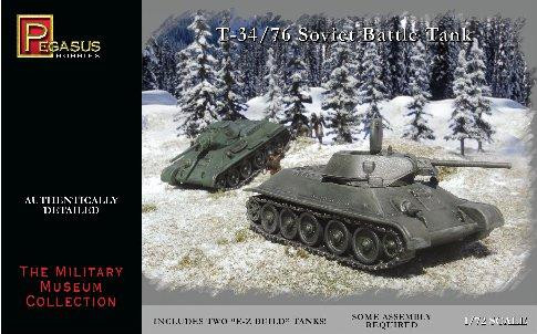 Pegasus Hobbies WWII 1/72: T-34/76 Soviet Battle Tank