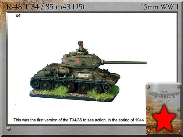 Forged in Battle: Russian: T-34/85 m43 D5T