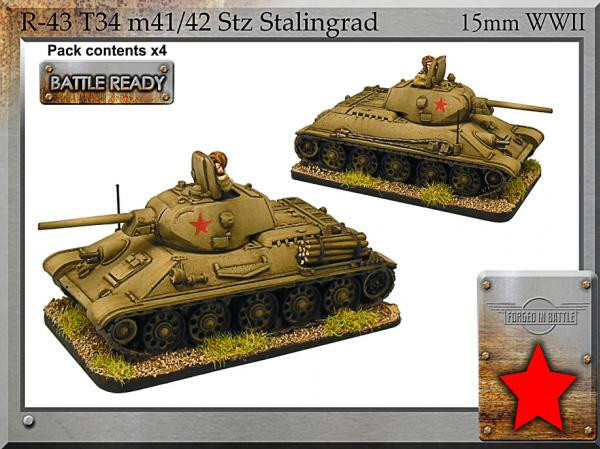 Forged in Battle: Russian: T-34 m41/42 Stz Stalingrad