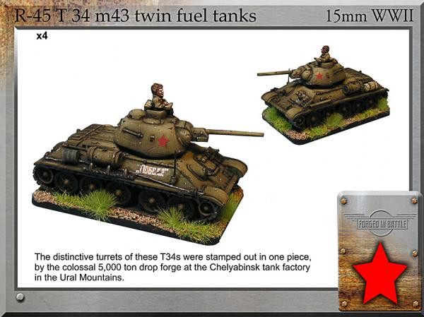 Forged in Battle: Russian: T-34 m43 Twin Fuel Tanks