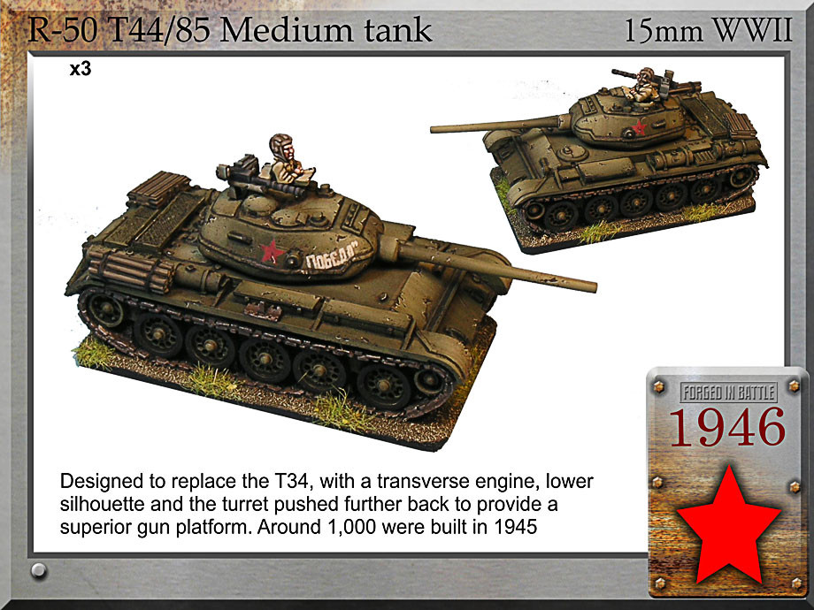 Forged in Battle: Russian: T-44/85 medium tank