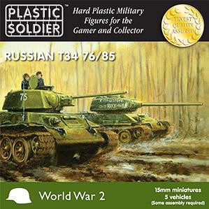 Plastic Soldier Company: 15mm Russian: T34 76/85 Tanks