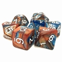TMG: RPG 7 Dice Set 16mm - Blue & Gold Scrying Stone