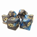 TMG: RPG 7 Dice Set 16mm - Blue & Black Inky Underworld