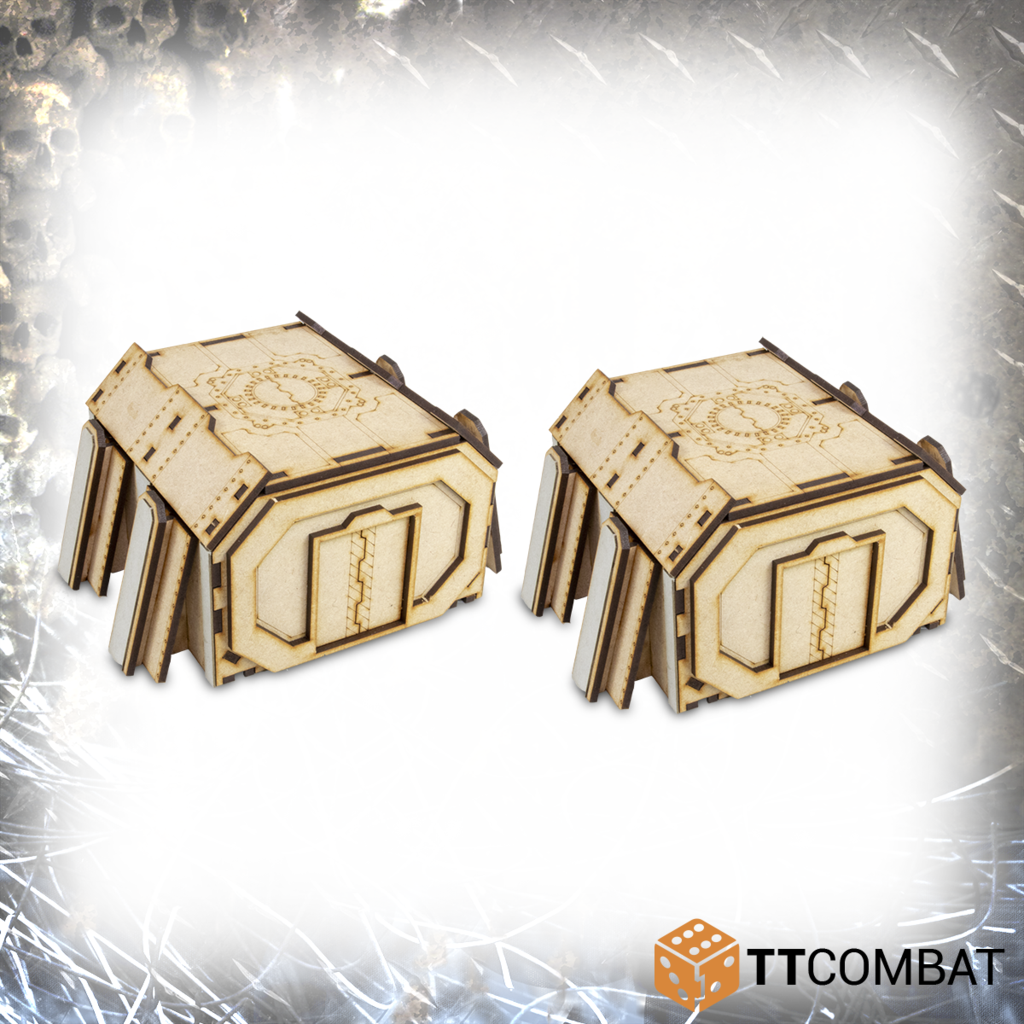 TT Combat Terrain: Fortified Bunker- Straight Sections (2)