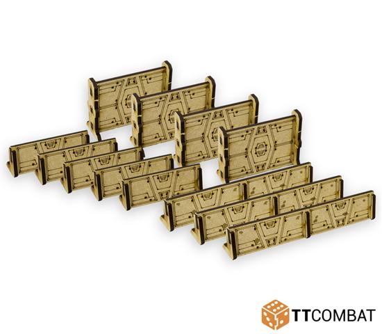 TT Combat - TT Combat Terrain: Sci-fi Scenics - Sandstorm Barricades
