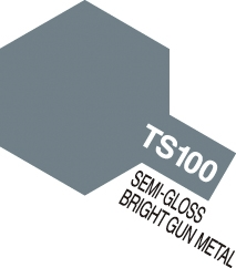 Tamiya Spray TS100: Bright Gun Metal