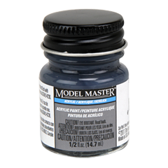 Testors Model Masters Acrylic Paints- 5-N Navy Blue - Semi-Gloss