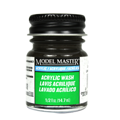 Testors Model Masters Acrylic Paints- Black Detail Wash - Flat