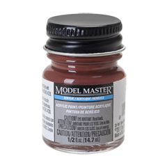Testors Model Masters Acrylic Paints- Boxcar Red - Flat