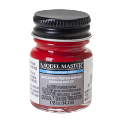 Testors Model Masters Acrylic Paints- Caboose Red - Flat