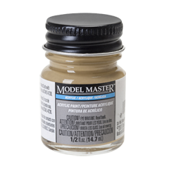 Testors Model Masters Acrylic Paints- Depot Buff - Flat