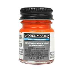 Testors Model Masters Acrylic Paints- Fluorescent Red FS28915 - Flat