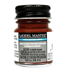 Testors Model Masters Acrylic Paints- Oxide Red - Flat