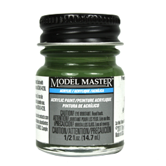 Testors Model Masters Acrylic Paints- Panzer Olivgrun RAL 6003 - Semi-Gloss