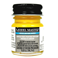 Testors Model Masters Acrylic Paints- Reefer Yellow - Flat