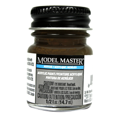 Testors Model Masters Acrylic Paints- Roof Brown - Flat