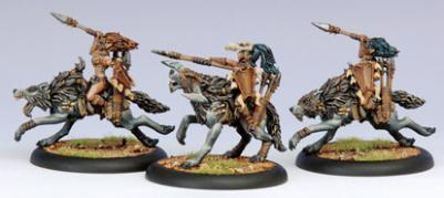 Hordes: Circle Orboros (72024): Tharn Wolf Riders Cavalry Unit