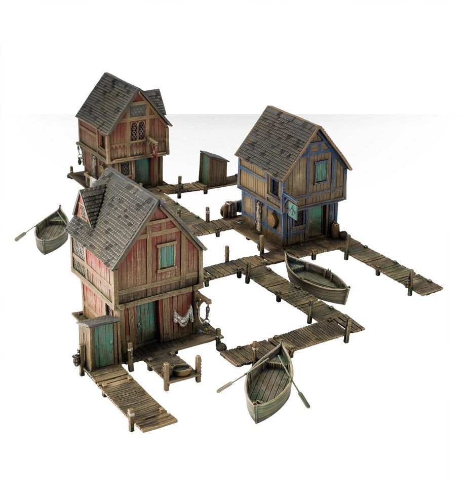 The Hobbit Strategy Battle Game: Lake-town House  [3 Pack Bundle]