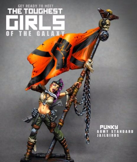 The Toughest Girls Of The Galaxy: Jailbirds- Punky, Army Standard