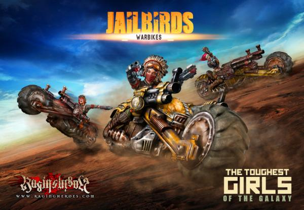 The Toughest Girls Of The Galaxy: Jailbirds- Warbikes