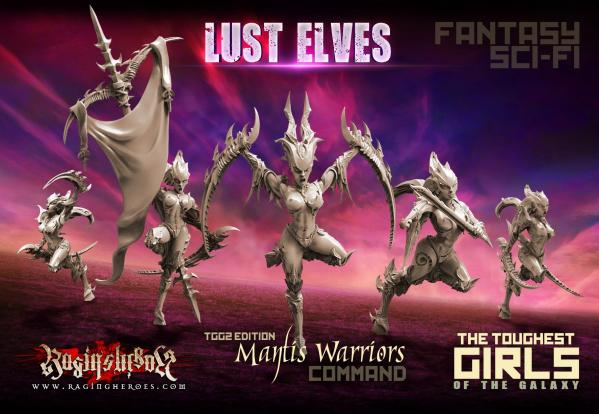 The Toughest Girls Of The Galaxy: Lust Elves-Mantis Warriors Command Group