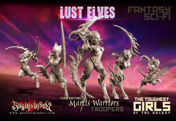 The Toughest Girls Of The Galaxy: Lust Elves-Mantis Warriors Troopers