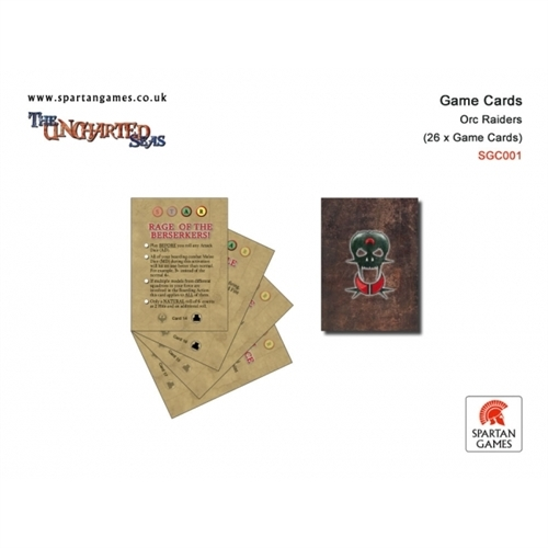 The Uncharted Seas: Orc Raiders: Game Cards