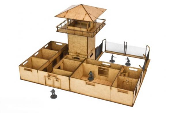 The Walking Dead: All Out War- (MDF Scenery) The Prison