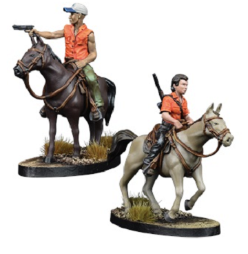 The Walking Dead: All Out War- Maggie and Glenn on Horseback