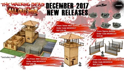 The Walking Dead: All Out War- Prone Figures Booster