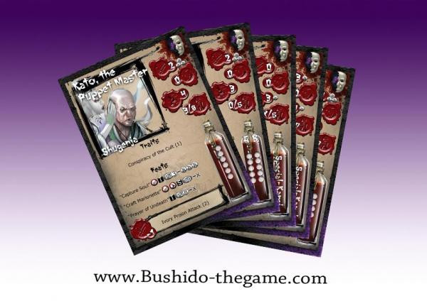 Bushido: The Cult of Yurei: Cards