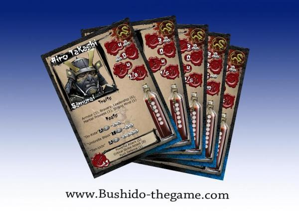 Bushido: The Prefecture of Ryu: Cards