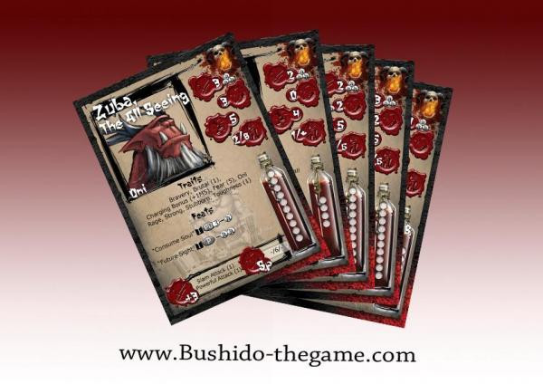 Bushido: The Savage Wave: Cards
