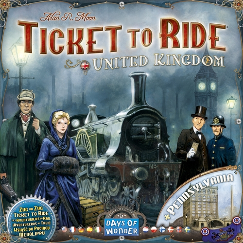 Ticket To Ride: Map Collection #5- United Kingdom + Pennsylvania