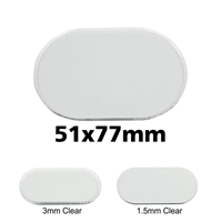 Transparent Bases: Pill 51x77mm (1.5mm Thick): 5 Pack
