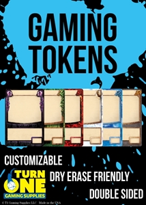 Turn One Gaming: Customizable Creature Tokens (double sided)