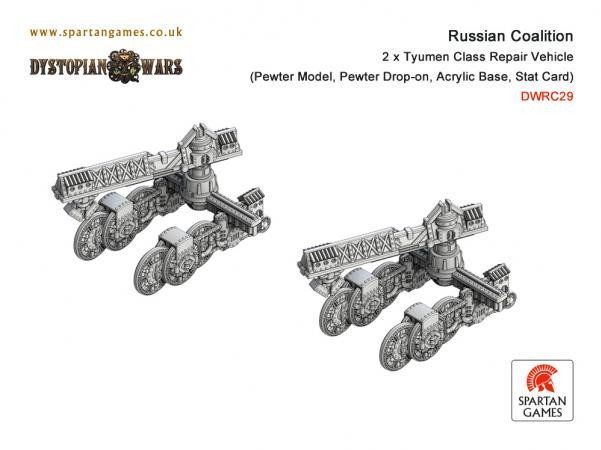 Dystopian Wars: Russian Coalition: Tyumen Class Repair Vehicle