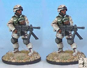 Black Scorpion Miniatures: US Marines: SAW Gunners