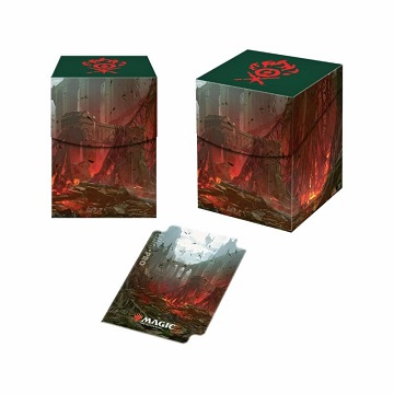 Ultra Pro 100+ Deck Box: Magic The Gathering- Guilds of Ravnica- Gruul Clans