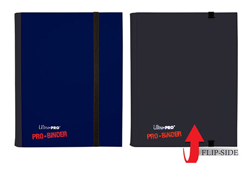 Ultra Pro: 4-Pocket Pro-Binder Sideloading: Blue/ Black