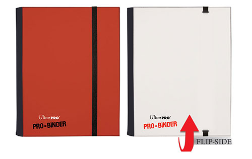 Ultra Pro: 4-Pocket Pro-Binder Sideloading: Red/ White