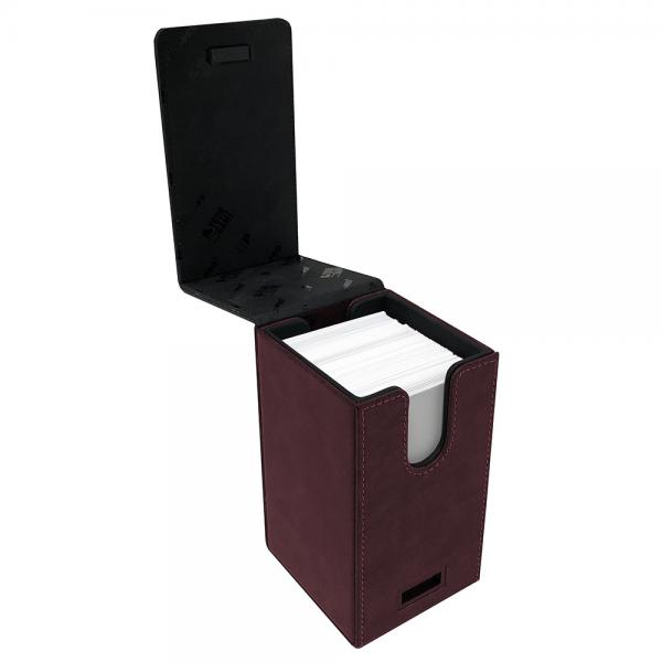 Ultra Pro: Alcove Tower Deck Box- Suede Red